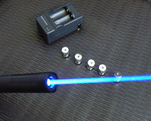 1000mW 445nm Blue Laser Pointer With 5 Different Style Caps